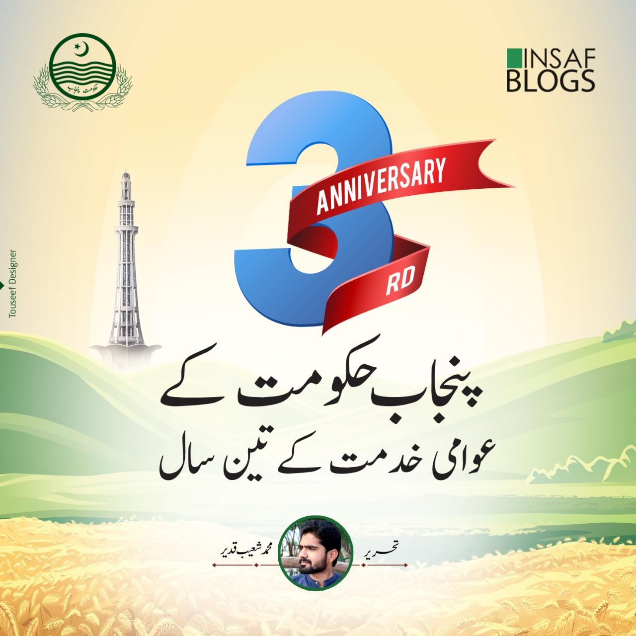 3 Successful Years of Punjab Govt Under CM Buzdar - Insaf Blog